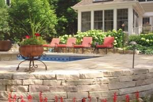 pool design landscape design in Rockford