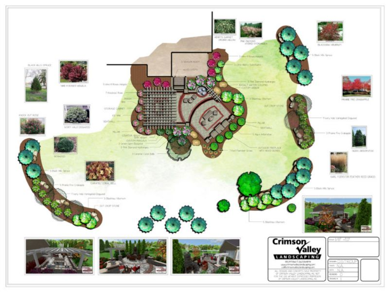 floor plan landscape