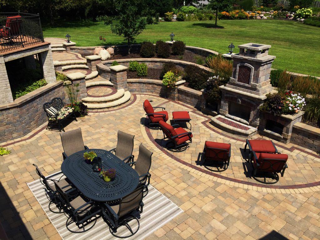 Hardscape Design / Brick Pavers - Crimson Valley Landscaping on Backyard Hardscape Design id=97261