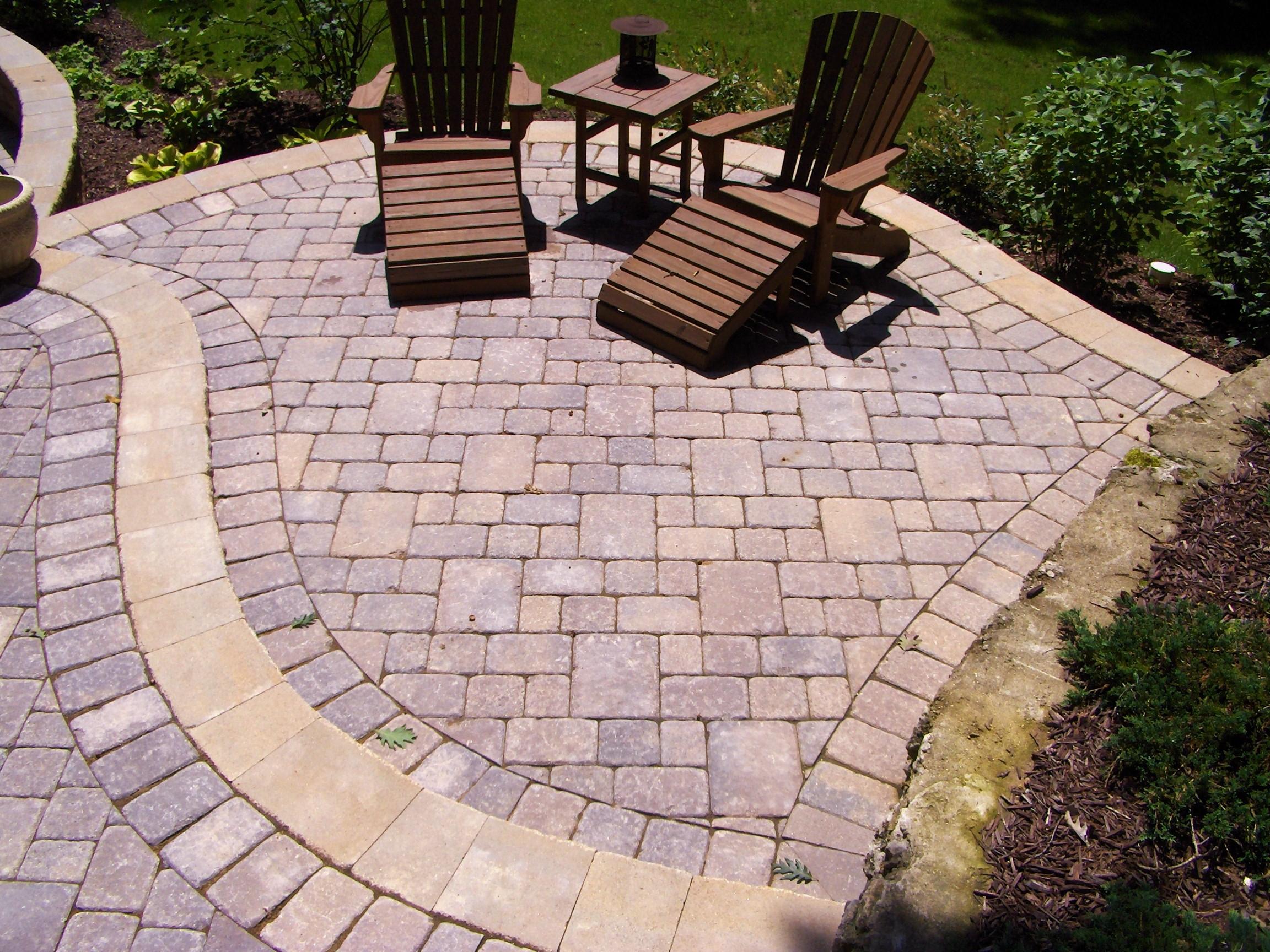 paver patio seating area
